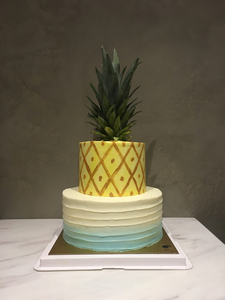 Double Tier Pineapple Cake