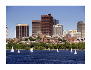 BOSTON : The State House from the Charles River