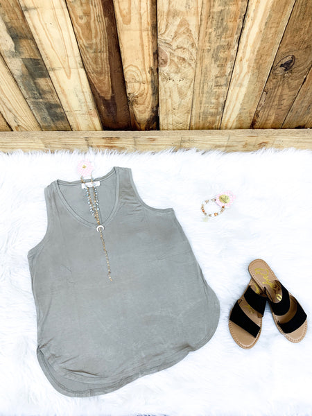 Smoke Green Every Day Tank - Faye Baby Boutique