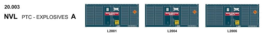 SDS Models: 20' Foot Containers: L / D / NGA / NGB / MSL / VSL: Triple Packs NGD 20.004