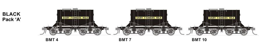 SDS Models: NSWGR: BMT Milk Tank Car: Black Pack A