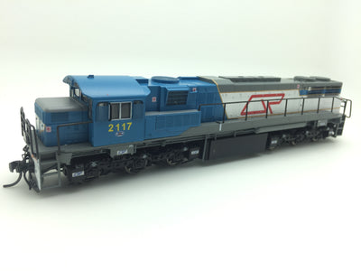 Wuiske Models: RTR063: HO: QR blue/gray 2100 Class Loco: #2107D DRIVER ONLY