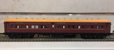 ACS925 Eureka Models : ACS 925 COMPOSITE SLEEPING CAR INDIAN RED NSWGR 12 Wheel Passenger 72.6 Car Series .