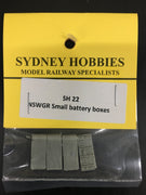 SH22 6ft BATTERY BOXES SMALL suits NSWGR PASSENGER CARS (4)