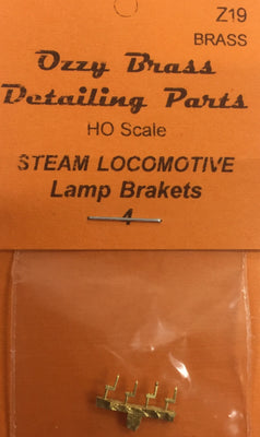 Lamp Brakets Ozzy Brass: #Z19 Lamp Brackets for Steam Loco's, Carriages, marker lights. HO
