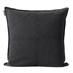 Aura Vintage Denim Cushion - Grey