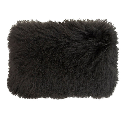 Tibetan Lamb Fur Cushion - Oblong
