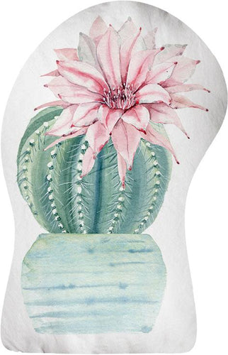 Pink Flower Cactus Door Stop