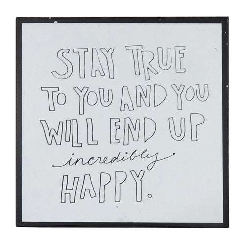 Words of Wisdom Wall Art - Stay True