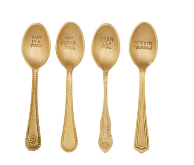 Embossed Teaspoons - Set of 4