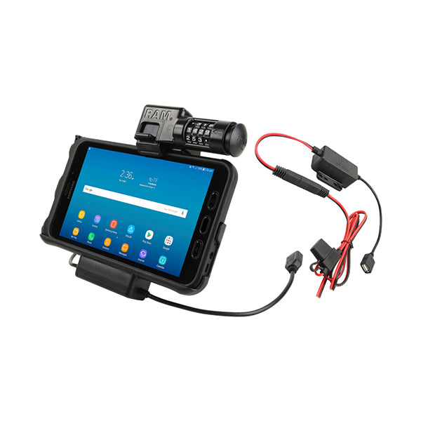 RAM® Locking Power & Data Cradle for Samsung Tab Active2 (RAM-HOL-SAM7PCL2-HARU)-Image 1