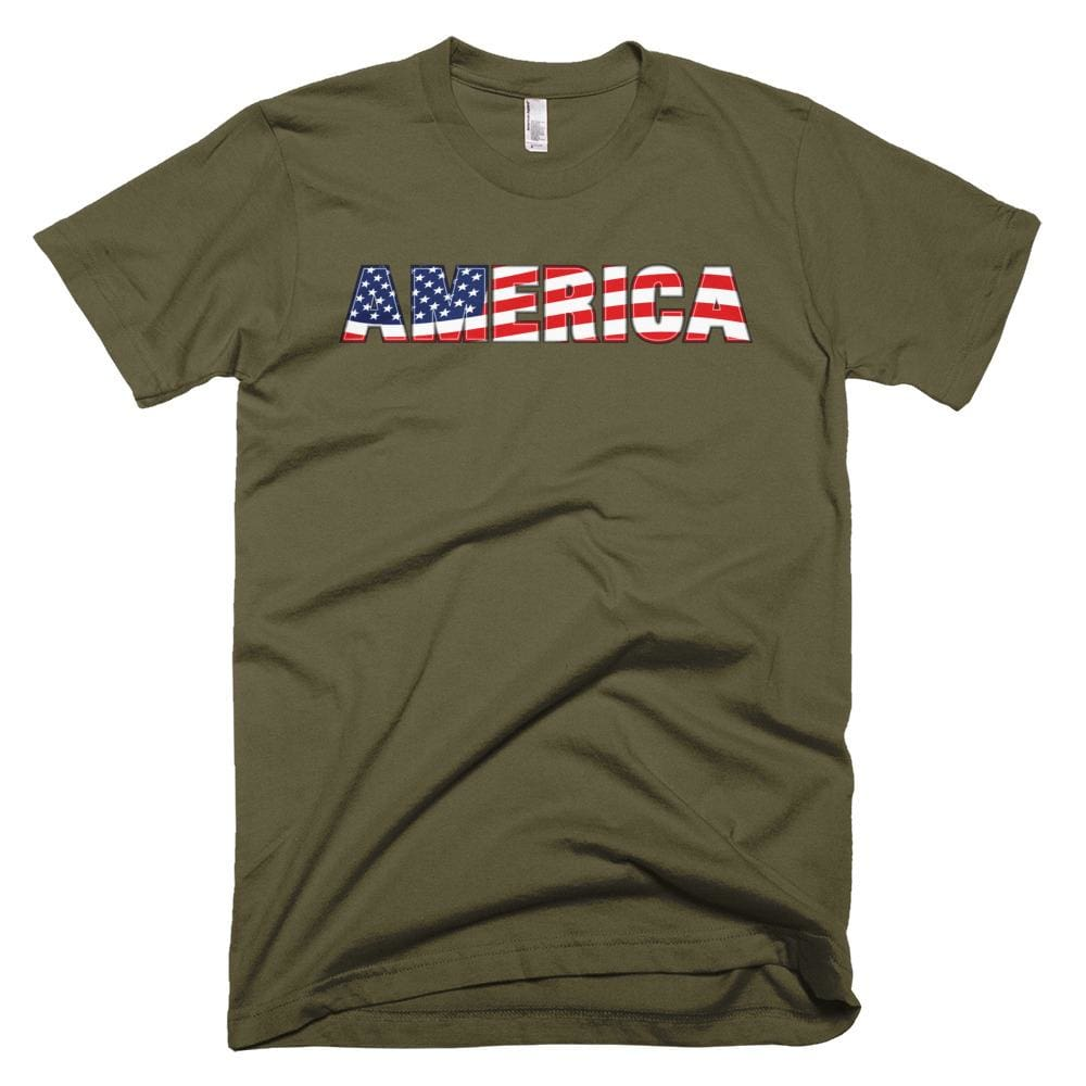 America *MADE IN THE USA* Unisex T-shirt - Army / XS
