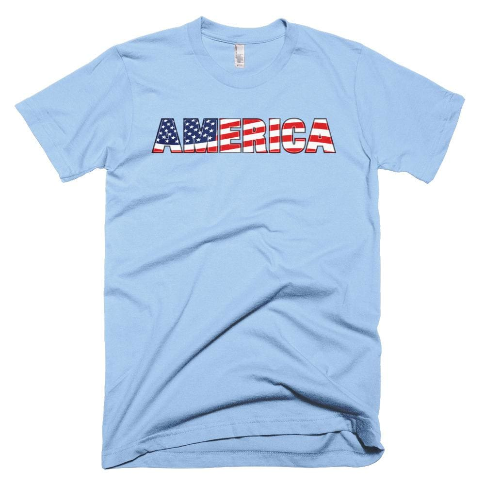 America *MADE IN THE USA* Unisex T-shirt - Baby Blue / XS