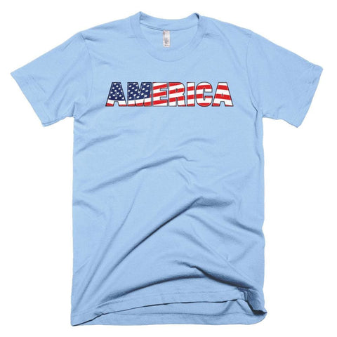 Image of America *MADE IN THE USA* Unisex T-shirt - Baby Blue / XS