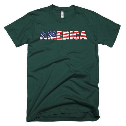 Image of America *MADE IN THE USA* Unisex T-shirt - Forest / XS