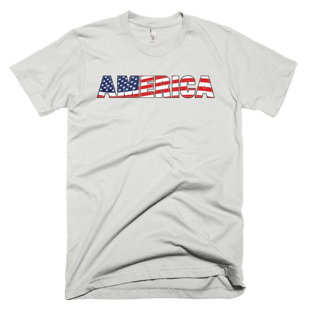 America *MADE IN THE USA* Unisex T-shirt - New Silver / XS