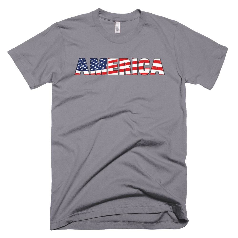 America *MADE IN THE USA* Unisex T-shirt - Slate / XS