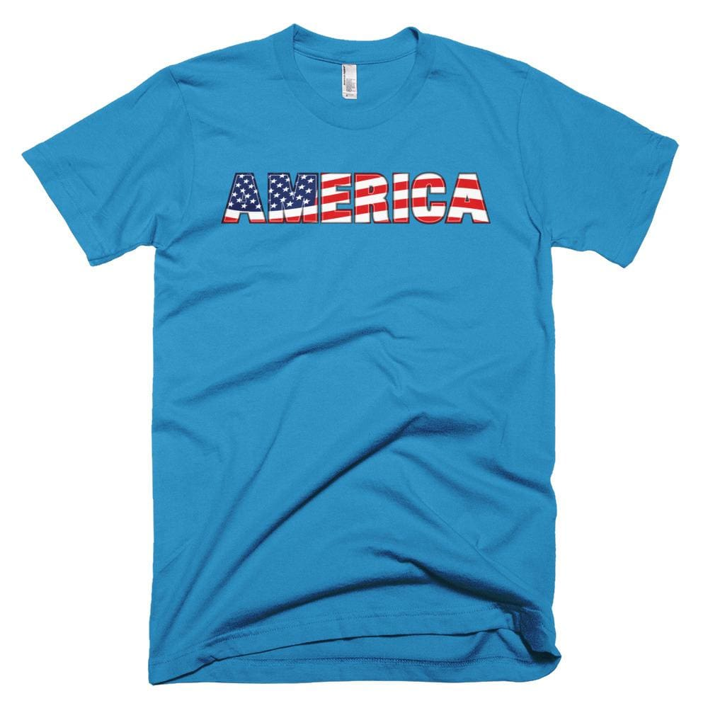 America *MADE IN THE USA* Unisex T-shirt - Teal / XS
