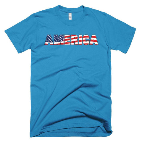 Image of America *MADE IN THE USA* Unisex T-shirt - Teal / XS