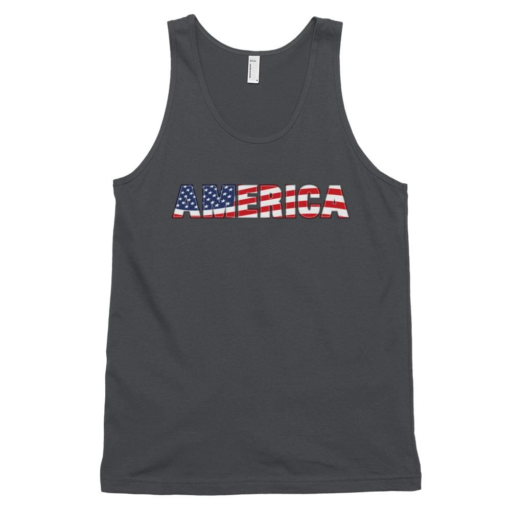 America *MADE IN THE USA* Unisex Tank Top - Asphalt / XS