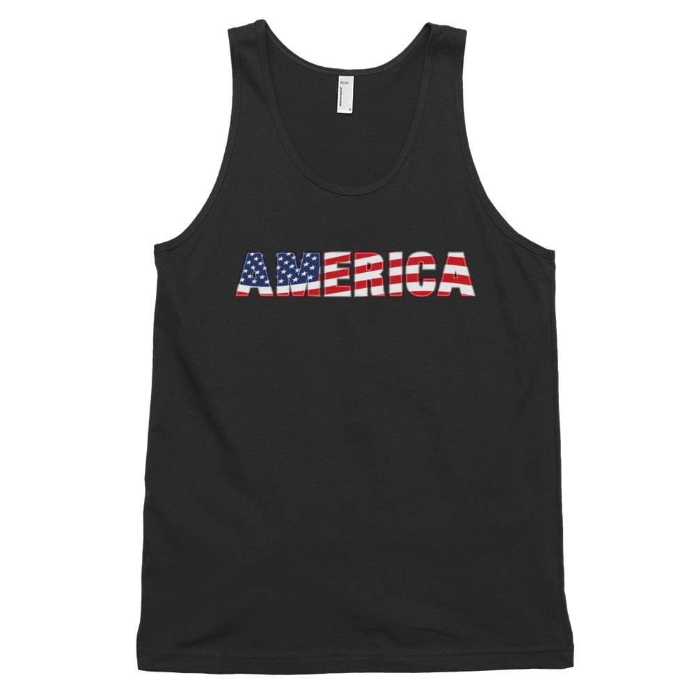 America *MADE IN THE USA* Unisex Tank Top - Black / XS