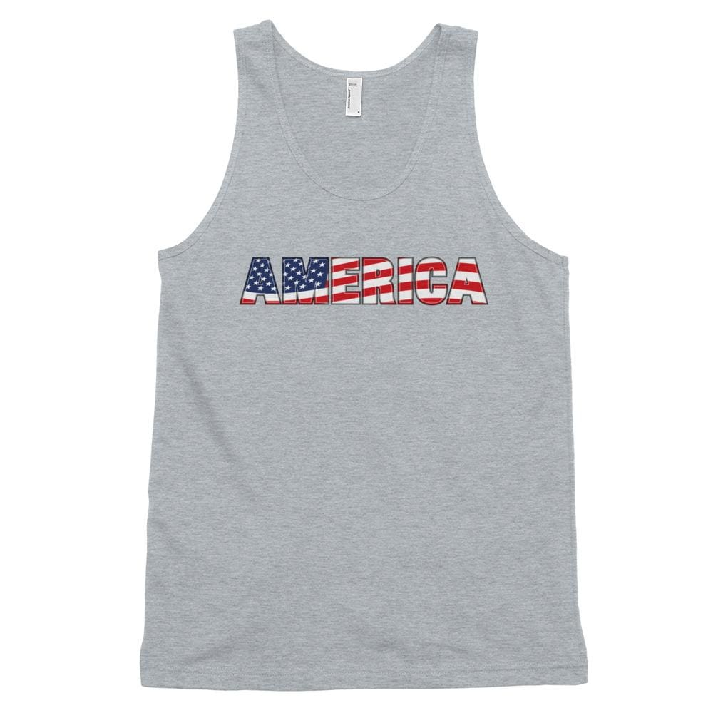 America *MADE IN THE USA* Unisex Tank Top - Heather Grey / XS
