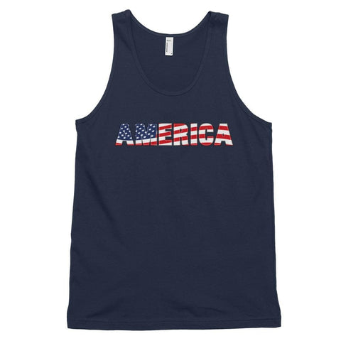 Image of America *MADE IN THE USA* Unisex Tank Top - Navy / XS