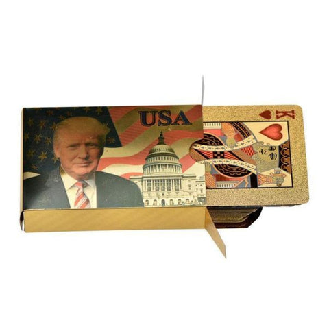 Image of Donald Trump Playing Cards - 24K Gold-Plated Commemorative Collectors Edition