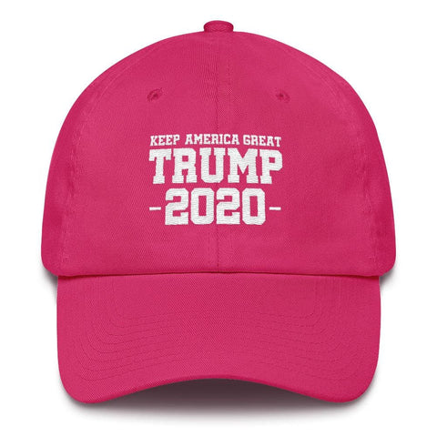 Keep America Great Trump 2020 *MADE IN THE USA* Hat - Bright Pink