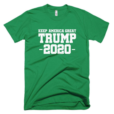 Image of Keep America Great Trump 2020 *MADE IN THE USA* Unisex T-Shirt - Kelly Green / XS
