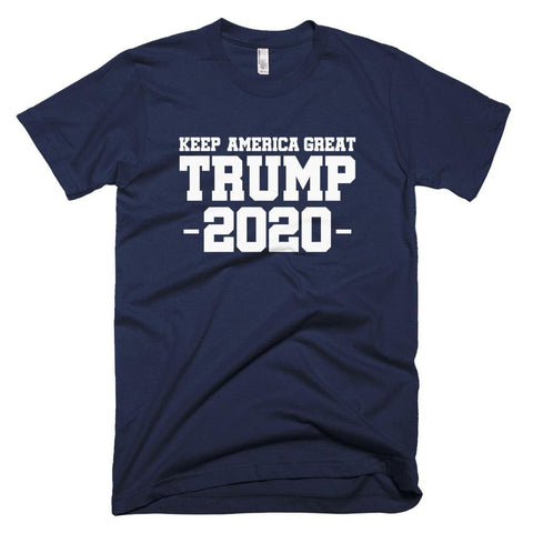 Image of Keep America Great Trump 2020 *MADE IN THE USA* Unisex T-Shirt - Navy / XS