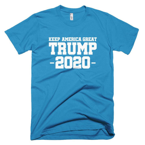Image of Keep America Great Trump 2020 *MADE IN THE USA* Unisex T-Shirt - Teal / XS