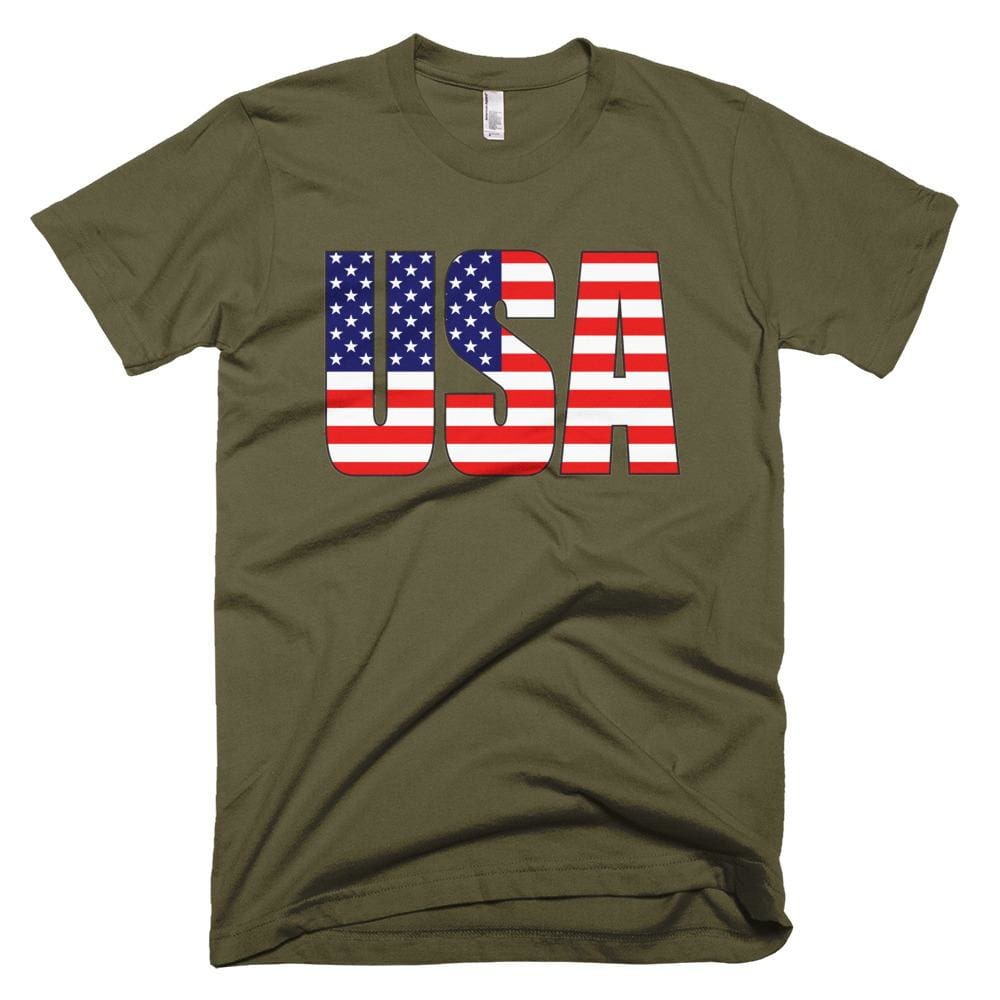 USA *MADE IN THE USA* Unisex T-shirt - Army / XS