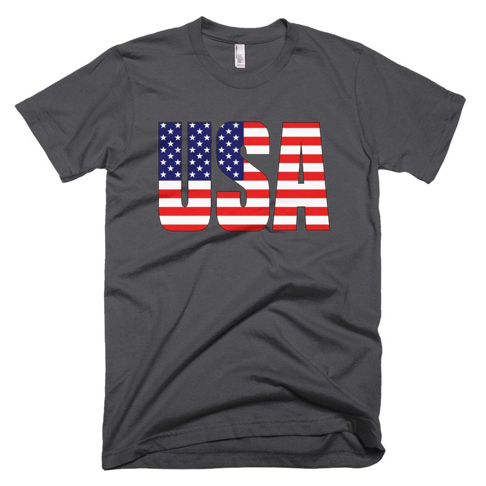 USA *MADE IN THE USA* Unisex T-shirt - Asphalt / XS