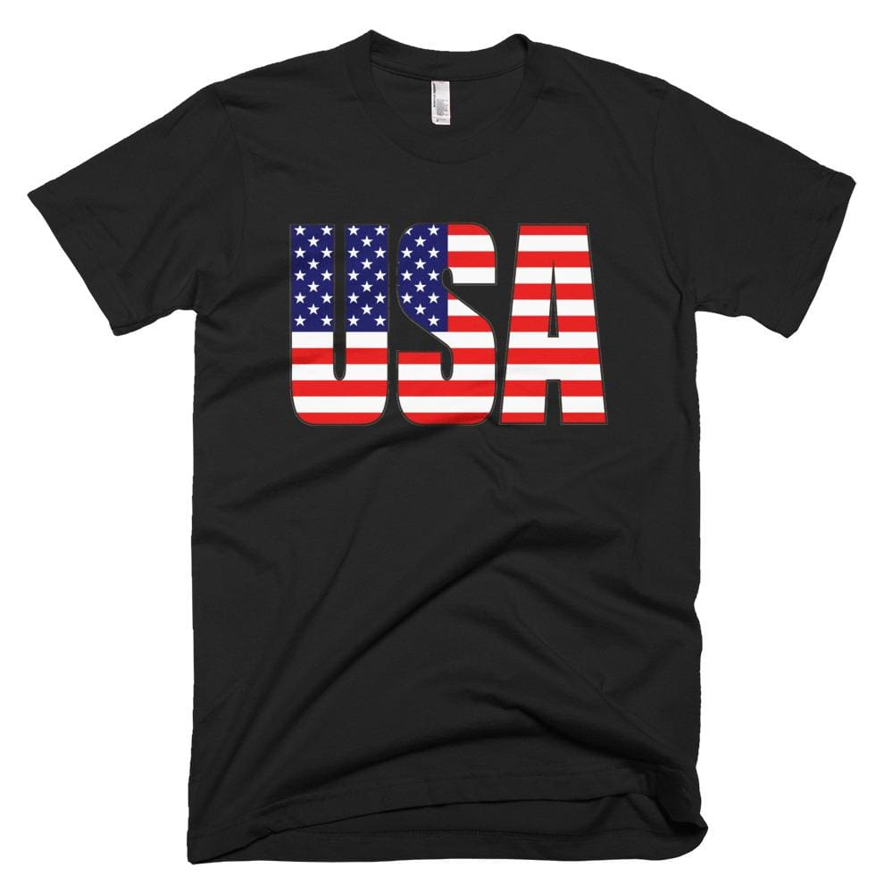 USA *MADE IN THE USA* Unisex T-shirt - Black / XS