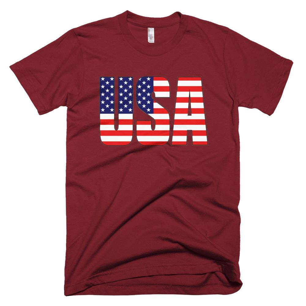 USA *MADE IN THE USA* Unisex T-shirt - Cranberry / XS
