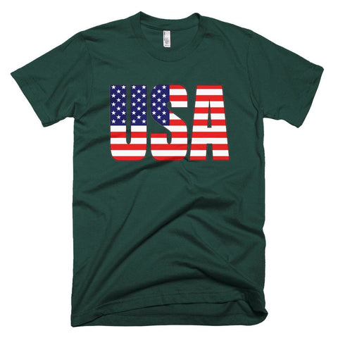 Image of USA *MADE IN THE USA* Unisex T-shirt - Forest / XS
