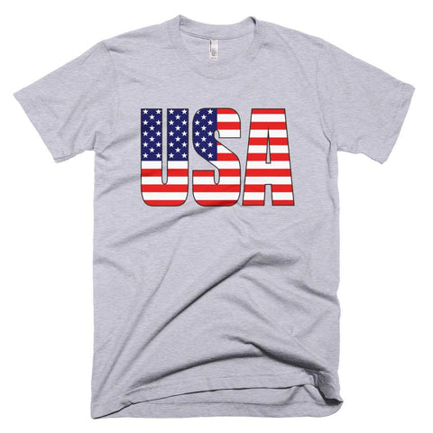 Image of USA *MADE IN THE USA* Unisex T-shirt - Heather Grey / XS
