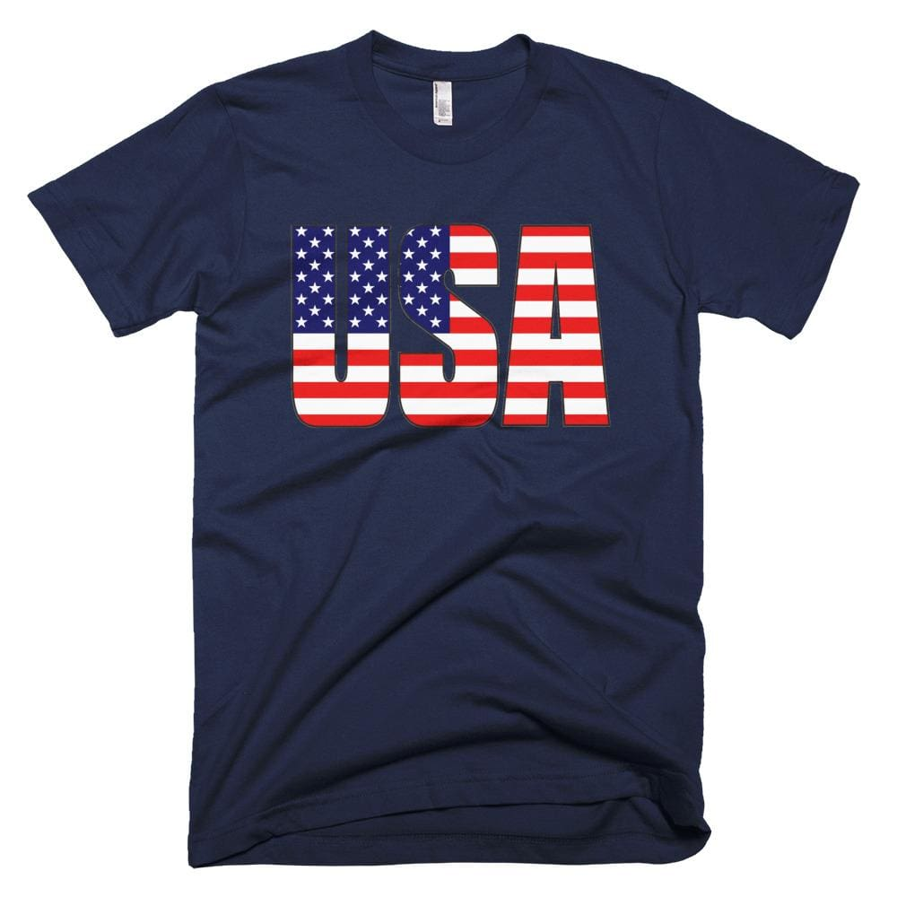 USA *MADE IN THE USA* Unisex T-shirt - Navy / XS