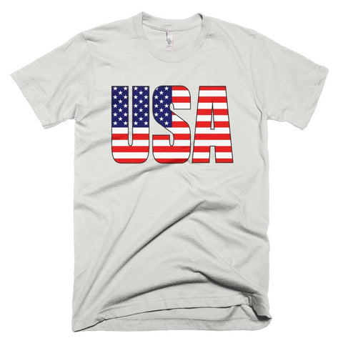 Image of USA *MADE IN THE USA* Unisex T-shirt - New Silver / XS
