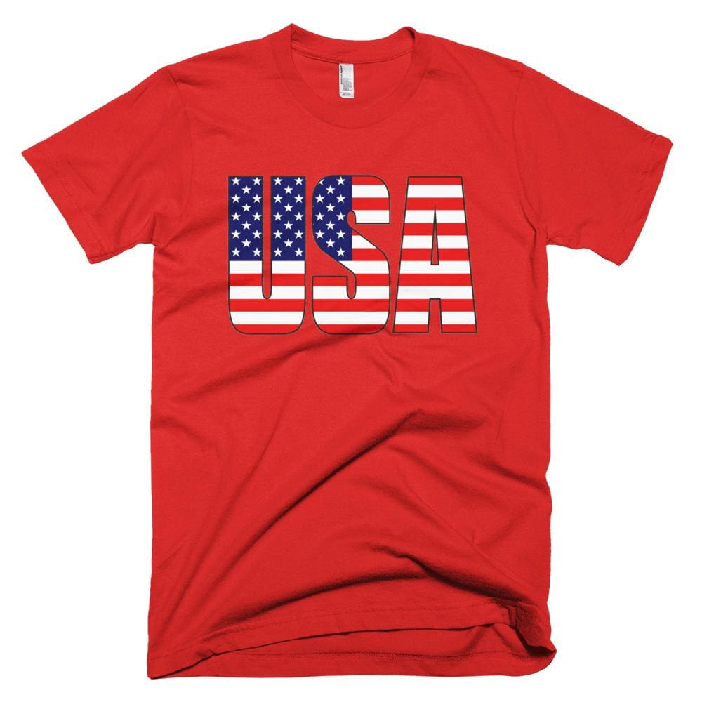 USA *MADE IN THE USA* Unisex T-shirt - Red / XS