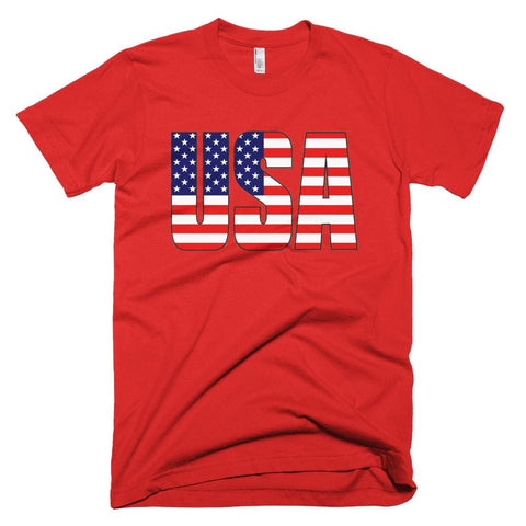 Image of USA *MADE IN THE USA* Unisex T-shirt - Red / XS