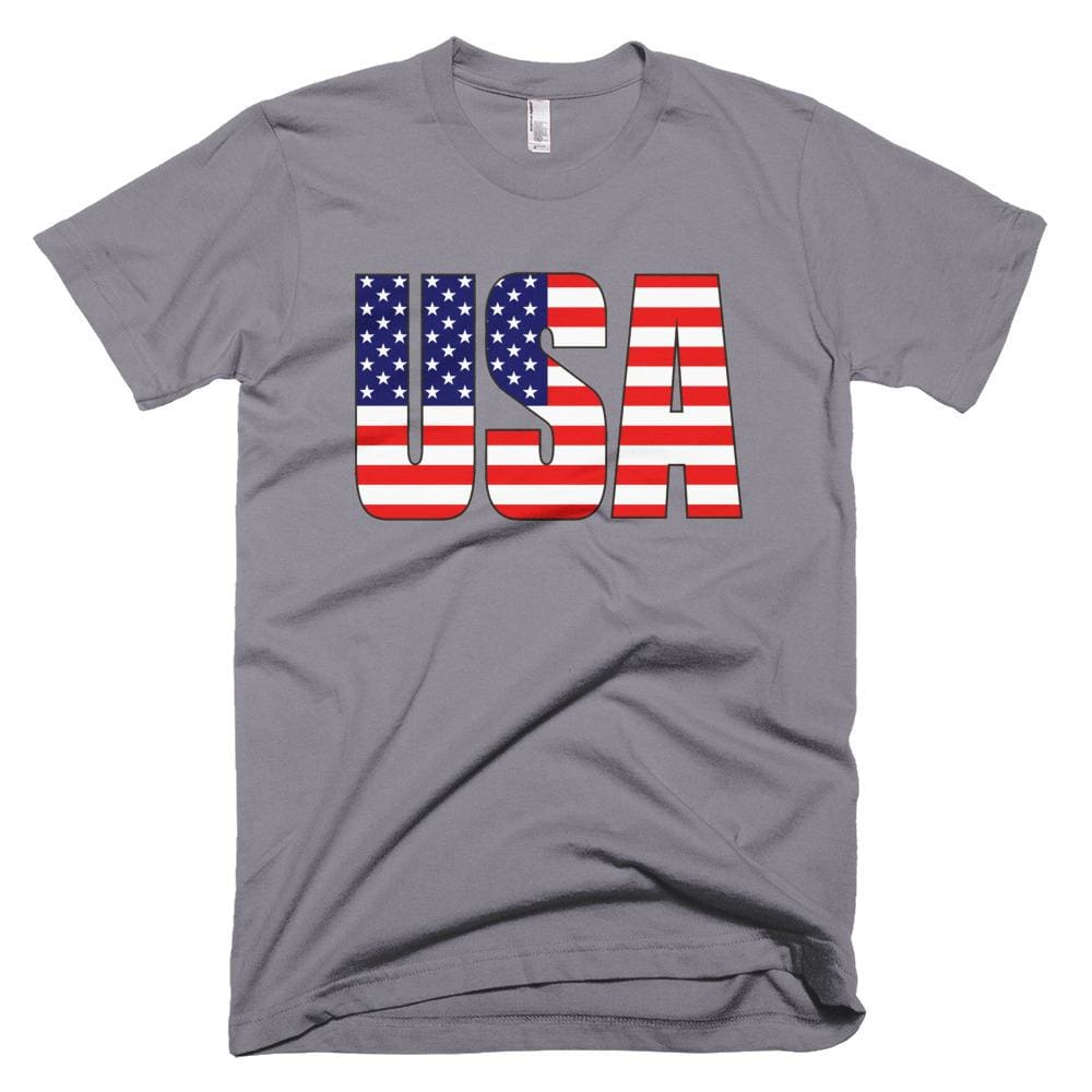 USA *MADE IN THE USA* Unisex T-shirt - Slate / XS