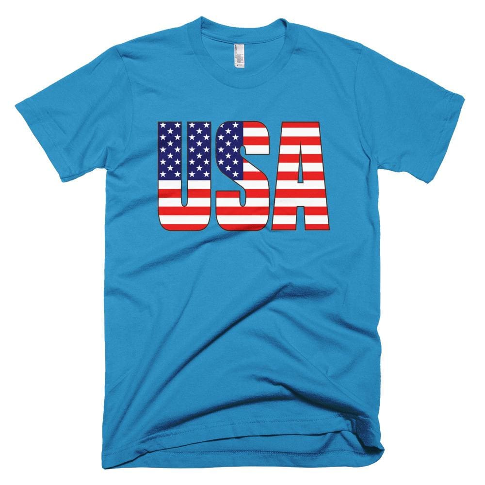 USA *MADE IN THE USA* Unisex T-shirt - Teal / XS