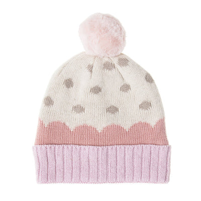 Rockahula Furry Pom Knitted Scarf Pink - Eat Play Love