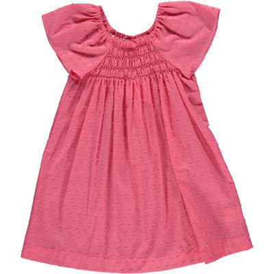 Smocked Summer Dress Coral - Eat Play Love