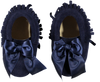 Girls Moccassins Navy - Eat Play Love