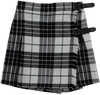 Tartan Skort Black and White - Eat Play Love