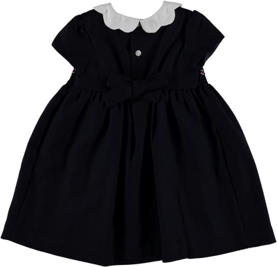 Smockdress Navy Tweed - Eat Play Love