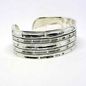 Ethical Silver Solid Bamboo Cuff
